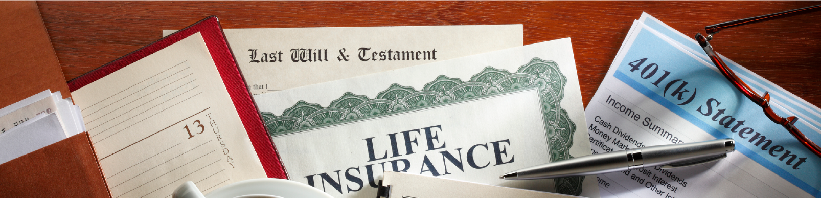 multiple important papers like the last will in testament, 401(k), etc needed for divorce
