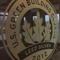 US Green Building Sign in Effingham Corporate office