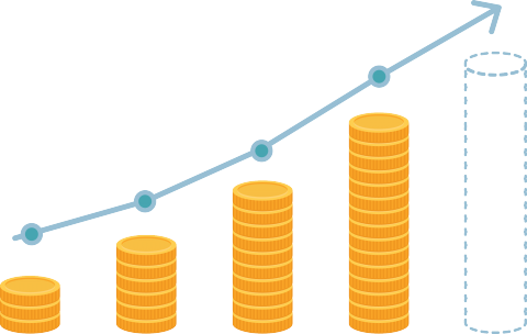 Growing money graph
