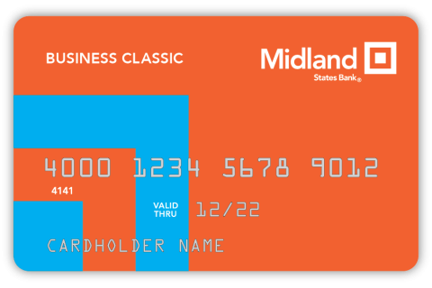 Graphic of the Midland Business Classic Credit Card