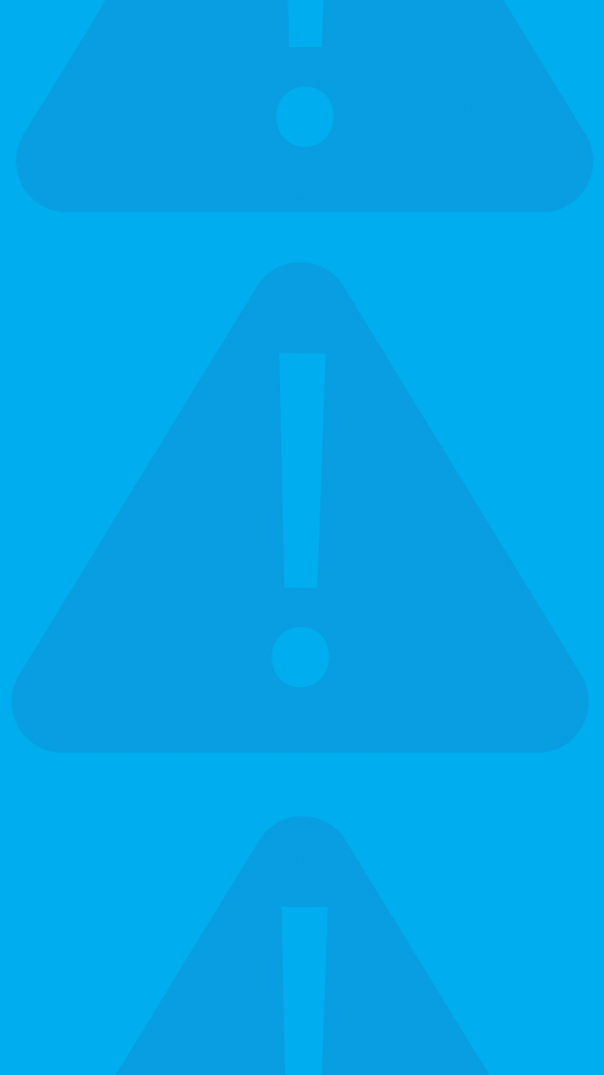 Alert icon over blue background