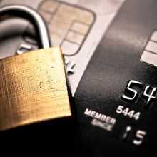 padlock and credit card